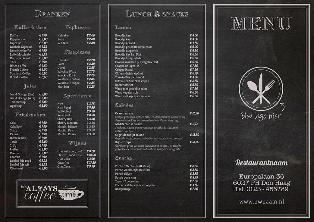 menukaarten